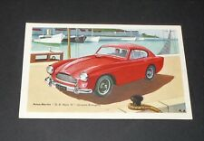 CPA CARTE POSTALE 1960 CHOCOLAT TOBLER AUTOMOBILE ASTON MARTIN D.B. MARK III GB