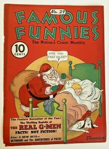 Famous Funnies #29 (Cover Only) Eastern Color Printing Company