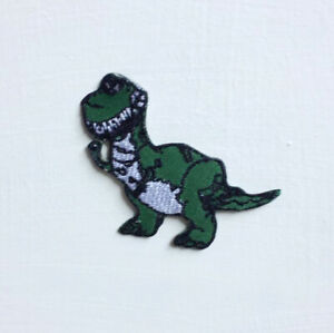 Cute Dinosaur T-Rex Art Badge Iron or sew on Embroidered Patch