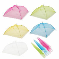 1 2 3 4 x Set Of Protective Food Cake BBQ Covers Insect Folding Mesh Umbrella