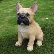 Gartenfigur Hund Französische Bulldogge 37.227B braun Garten lebensecht Figur