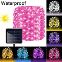 100/200/300LED Solar Power Fairy Lights Garden Outdoor Party 8Modes String Light