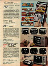 1977 ADVERTISEMENT Game Handheld TV Coleco Telstar Ranger APF Mathemagician