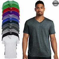 Gildan Men's Soft Style V-Neck T-Shirt Cotton Plain Casual Fashion Christmas Tee