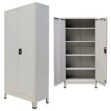 vidaXL Büroschrank Aktenschrank Metallschrank mit 2 Türen Stahl 90x40x180cm Grau