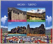 Peru 2017 Block Ancash Tourismus Archäologie Berge Hatun Machay Postfrisch MNH