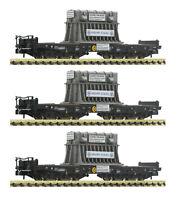Fleischmann N 845511 Schwerlastwagen-Set mit Heißbrammenhauben der DB NEU + OVP