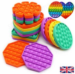 NEW POP IT! Sensory Fidget Toy Autism Special Needs Stress Reliever Silicone
