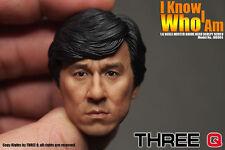 """Threeq Mg004 1/6th Jackie Chan Head Head Sculpt Model F/12"""" Man Body Male Figure"""