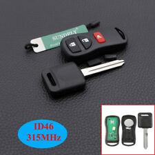 Hot Remote Key Fob 46 Transponder Chip Key 315MHZ For Nissan KBRASTU15 3 Button