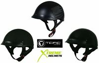 Torc T-53 Shorty Half Helmet XS-2XL DOT Approved