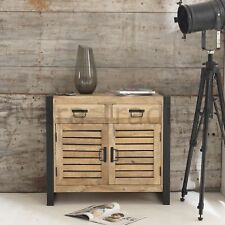 Harbour Indian Reclaimed Wood And Metal Furniture Small Dining Room Sideboard