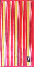 NEW RALPH LAUREN RED+PINK+WHITE+YELLOW STRIPES,VELVETY COTTON BATH,BEACH TOWEL
