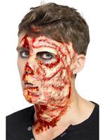 Brûlé Visage Cicatrice Latex Halloween Prosthétique Maquillage Déguisement Fx