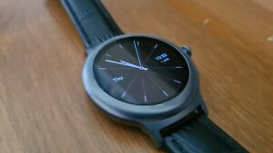 LG Watch Style, Titanium Stainless Steel Black