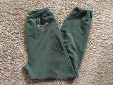 Vtg Men's 90s Champion Sz M Forest Green Spell Out Logo Drawstring Sweatpants