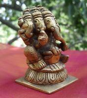 Ganesha 5 têtes Namaste Statue Bronze Inde Hindou Népal Ganesh Ethnique Yoga A