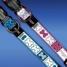 ROGZ Reflecto Side Release Puppy Collar - Small Medium Reflective Pink Blue
