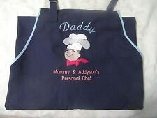 REAL MEN COOK Baking Apron PERSONALIZE Name Colors Fabric kitchen cooking     y