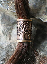 Hair Beard Bead Ring Bronze viking celtic  dreadlock Yggdrasil tree of life