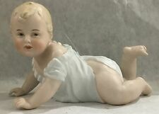 German Gebruder Heuback porcelain Bisque Piano Baby Boy  Figurine