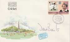 2456 Tuvalu 1984 CRICKET - D L BAIRSTOW 30c pair on FDC  SIGNED