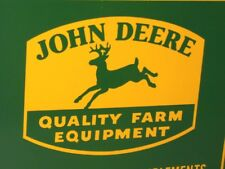 JOHN DEERS - Good Implements SIGN -4 Legged GREEN DEERE Kicking Hind Feet In Air