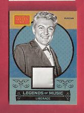 LIBERACE PERFORMER WORN RELIC MEMORABILIA CARD 2014 GOLDEN AGE LEGENDS OF MUSIC