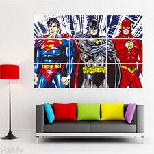 Marvel Superman Batman The Flash Poster Large Print Giant Art Deco