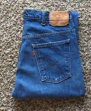 Vtg Levi's 519 - 0217 Zip Talon 42 Denim Blue Jean Sz 33x31 Made In USA. No BigE