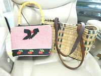 2 WOMENS PURSES CROFT AND BARROW AND WOVEN BOTH ARE VERY NICE EXCELLENT COND.