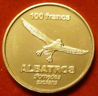 Terre Adelie 100 Francs 2011 UNC Albatros bird unusual coinage