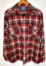MINT Vintage Pendleton 1962 Plaid Wool Board Shirt Jac Loop Collar Pocket Mens L