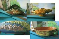 ANTIQUE ROSEVILLE OH POTTERY OVAL BOWL ZEPHYR LILY FOXGLOVE LOW CONSOLE PICK 1
