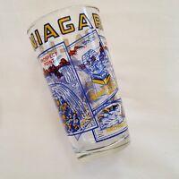 VTG Painted Souvenir Niagara Falls NY Hi Ball Drink Iced Tea Glass