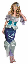 Womens 12-14 Shimmer Deluxe Ariel Costume - Princess Costumes
