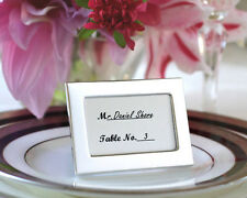 12 Silver Photo Frame Place Card Holders Winter Wedding Metal Decoration Favors