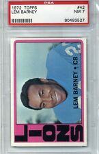 1972 Topps Football #42 - Lem Barney - PSA Graded 7 - Lions (Box DP)