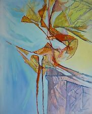 "Albert PRAT (1927-2009) HsT / Abstraction lyrique Abstract / Titre : ""Offrande"""