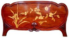 Inlaid Art Nouveau Footboard by Gallé #4615