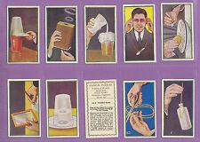 MAGIC  -  R. & J. HILL LTD. - RARE SET OF  50  MAGICAL  PUZZLES  CARDS  -  1938