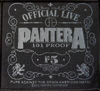 "PANTERA AUFNÄHER / PATCH # 30 ""101 PROOF"""
