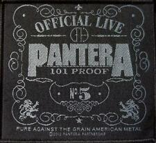 "PANTERA ricamate/Patch # 30"" 101 PROOF"""
