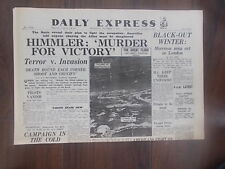 DAILY EXPRESS WWII NEWSPAPER OCTOBER 5th 1944 HIMMLER - MURDER FOR VICTORY