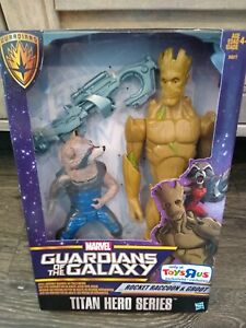 Guardians of the Galaxy~~Rocket Raccoon & Groot Toys R Us Exclusive Figure Set~~