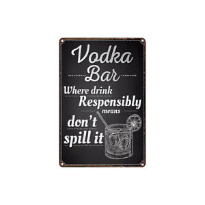 Metal Tin Sign vodka bar  for Bar Pub Home Vintage Retro Poster