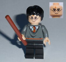 HARRY POTTER #38 Lego Harry Gryffindor Stripe w/wand.. As Shown NEW Genuine Lego