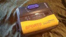 Vintage Sony Sport Cassette Radio Walkman Yellow Super Bass Wm-Fs395