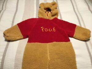 Disney Store Winnie The Pooh Costume Plush Size 4-6 Kids Halloween Dress Up