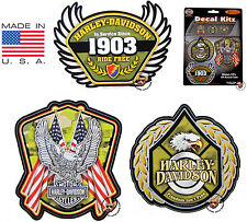 SET OF 3 HARLEY DAVIDSON SALUTE TO THE MILITARY DECALS * MADE IN THE USA *